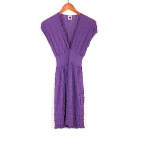 Missoni purple V neck sweater dress size 6